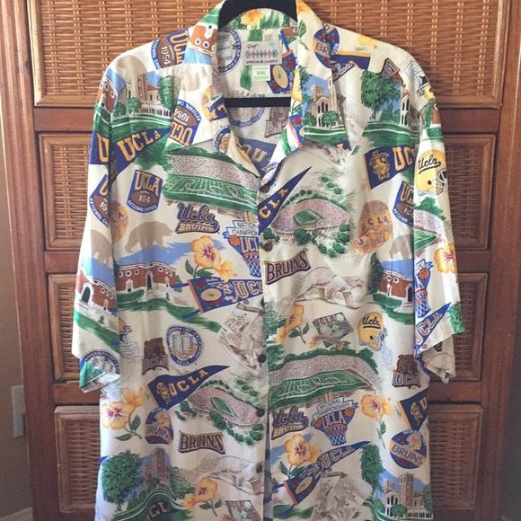 1c577c34c Reyn Spooner UCLA Hawaiian Shirt. M_5bc28017aaa5b82f2cd24b26